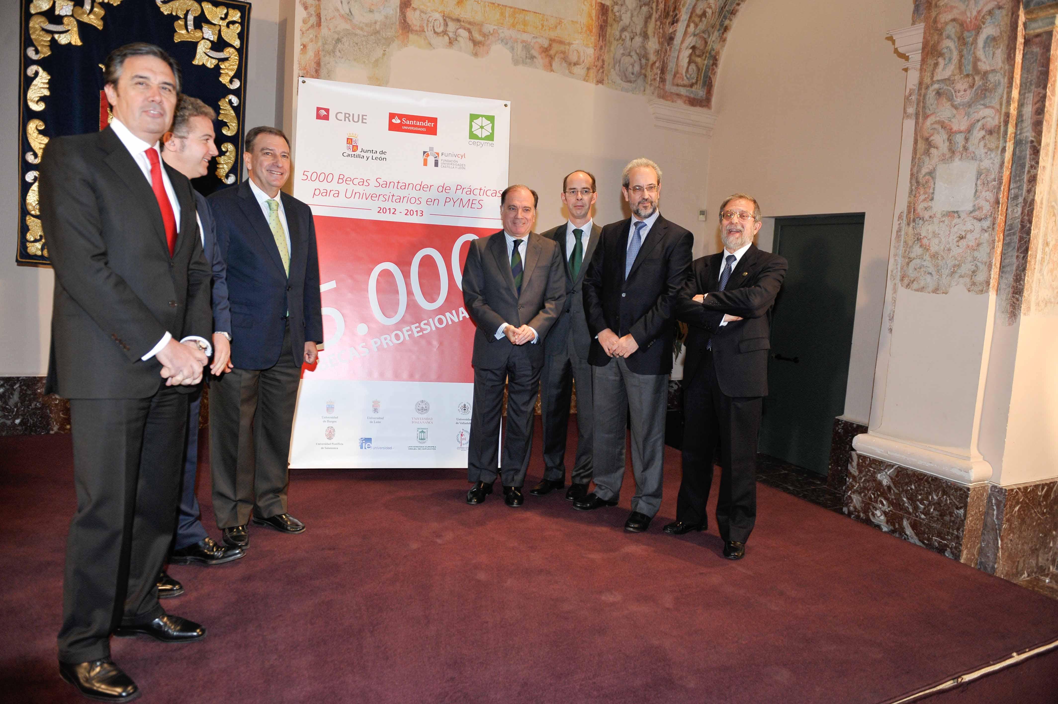 La Universidad de Salamanca concederá 42 ayudas para prácticas profesionales del programa de becas 'Santander-CRUE-CEPYME'
