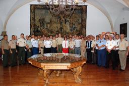 La secretaria general, Mª Luisa Martín, clausura el 'XIV Curso de Altos Estudios para Oficiales Superiores Iberoamericanos'
