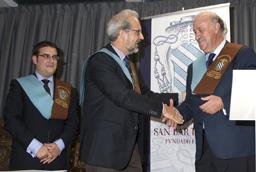 El seleccionador nacional de fútbol, Vicente del Bosque, nombrado colegial de honor por el Colegio Mayor San Bartolomé