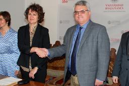 El vicerrector de Investigación y la directora general de Caja Rural de Salamanca inauguran en el Parque Científico un taller empresarial
