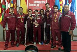 Los equipos femenino y masculino de Halterofilia de la Universidad de Salamanca consiguen las medallas de oro y plata en el Campeonato de España Universitario 2015