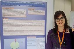 Mª Paz Gallego Enríquez, de la Universidad de Salamanca, recibe el primer premio al mejor proyecto de investigación en el 'XVIII Encuentro Internacional de Investigación en Cuidados de Salud'