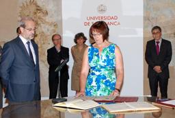 Los vicerrectores de Política Académica, José Ángel Domínguez, y Docencia, Mª Luisa Martín Calvo, toman posesión de sus nuevos cargos