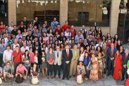La Universidad de Salamanca recibe a cerca de 180 participantes del Programa Top España procedentes de Brasil
