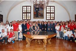 El Rector recibe a los 91 participantes del Programa TOP España Santander Universidades Brasil