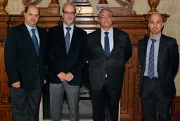 Daniel Hernández Ruipérez recibe al rector de la Escuela de Artes y Letras de Colombia