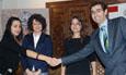 Firma del convenio entre el Parque Científico y la empresa Cenit Support Systems