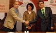 Firma del convenio entre el Parque Científico y Vivia Biotech