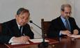 Firma del convenio entre la Universidad de Salamanca y la Fundación Encuentro