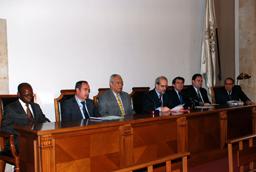 El rector, Daniel Hernández Ruipérez, inaugura el I Congreso Internacional 'La lengua portuguesa' en la Facultad de Filología
