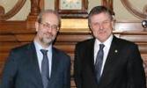 Visita del embajador de Uruguay en España