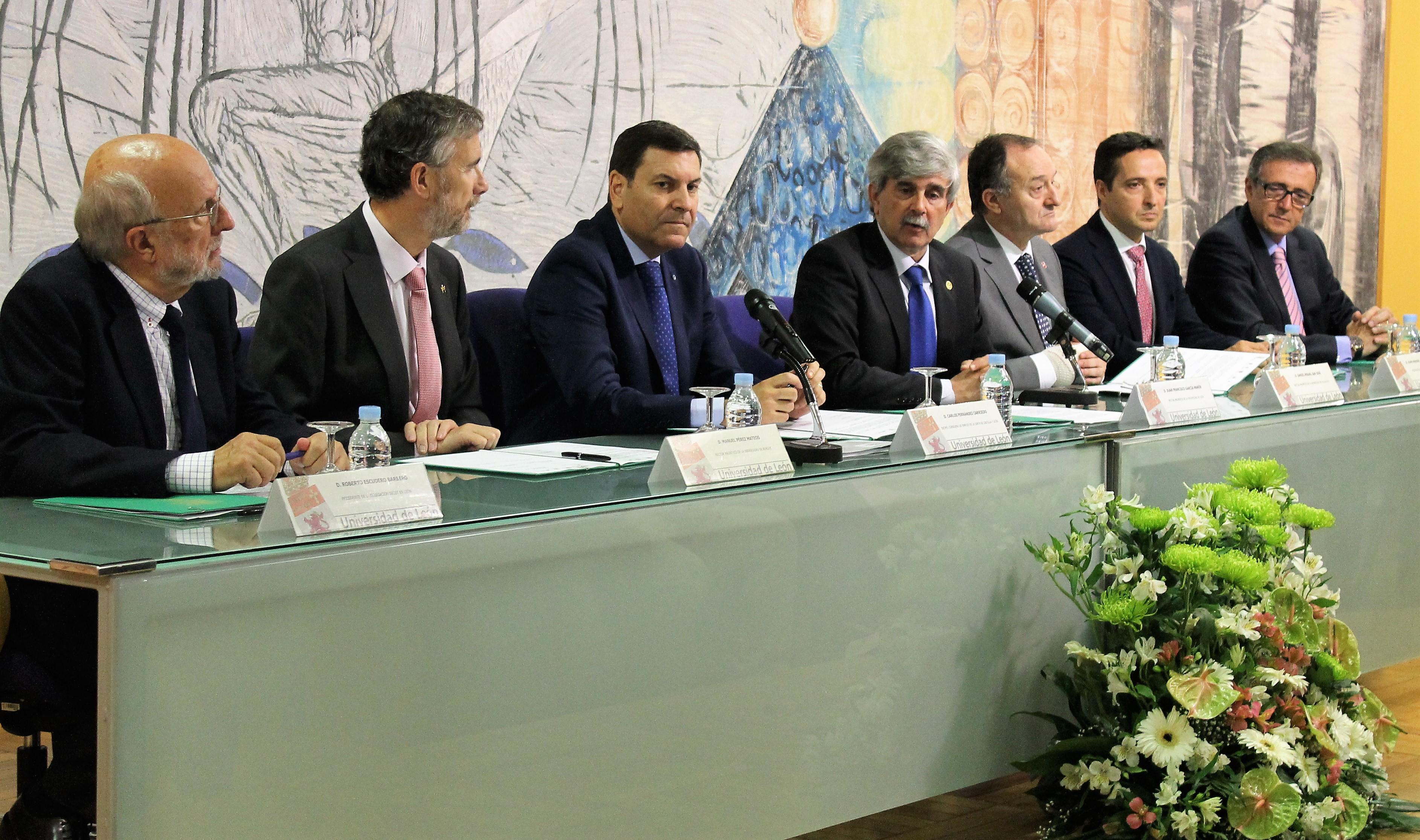 Las cuatro universidades públicas la región, la Junta de Castilla y León y SECOT suscriben un protocolo para poner en marcha la 'Oficina del Egresado Emprendedor'