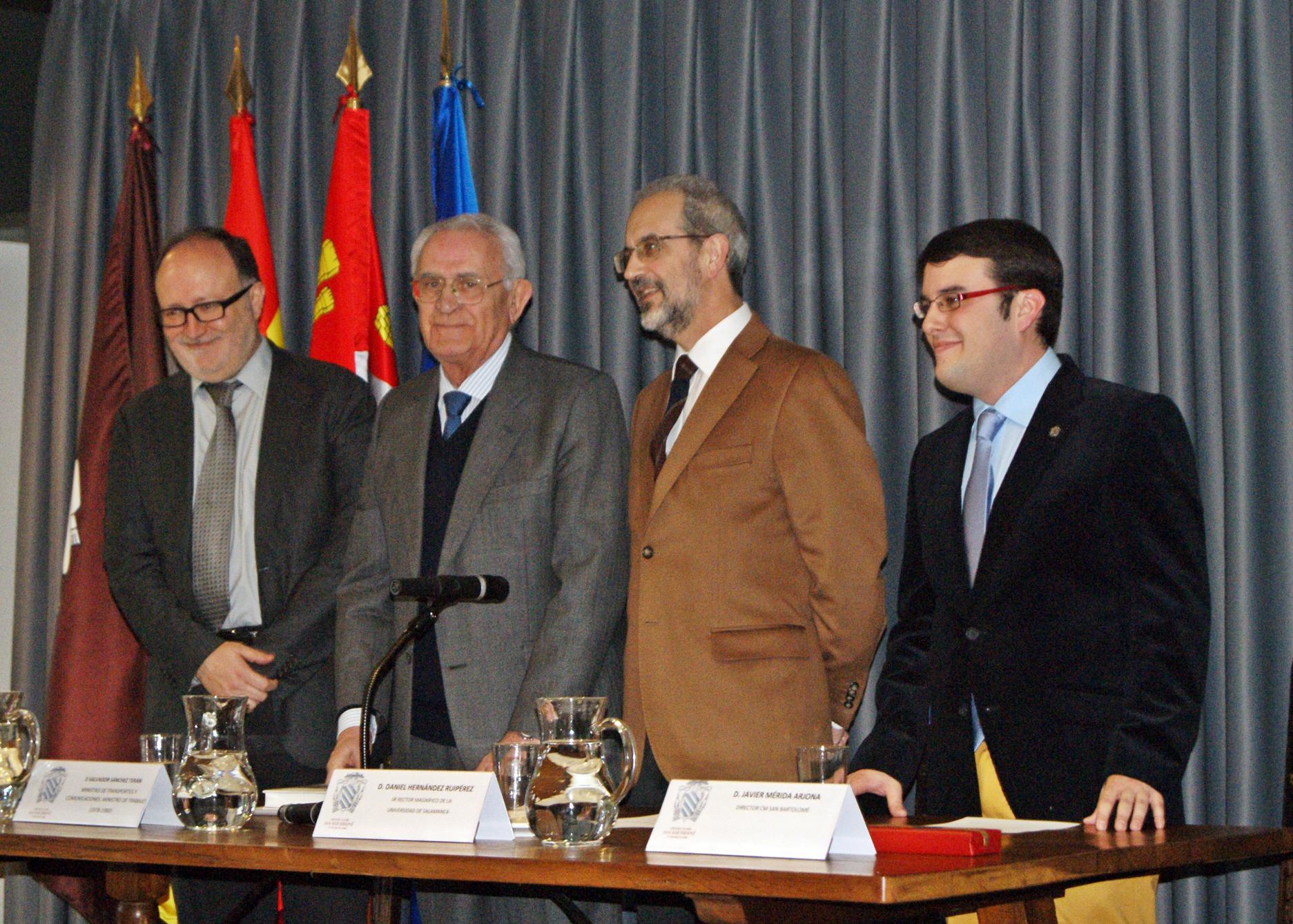 Salvador Sánchez-Terán participa en el Foro Protagonistas de la Transición española del Colegio Mayor San Bartolomé