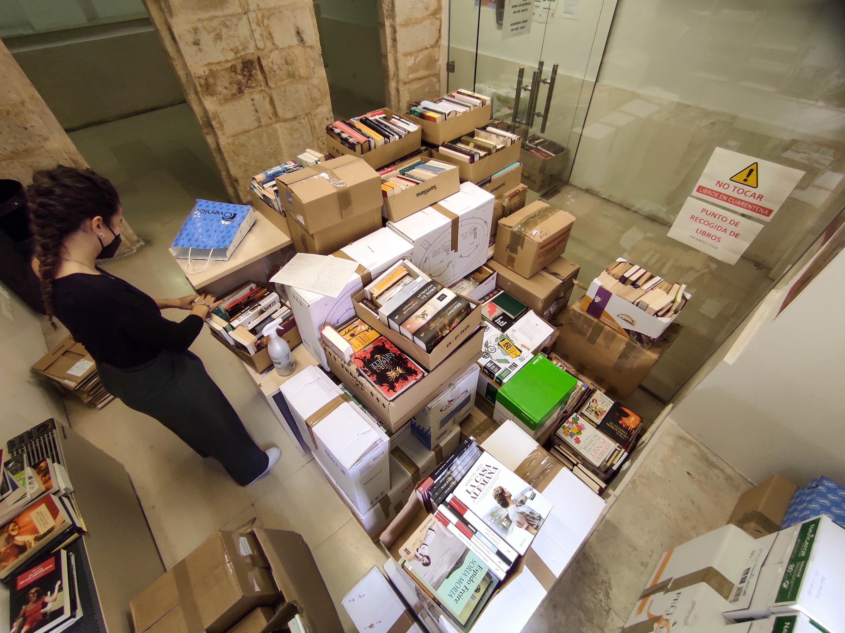 Libros donados al SAS para el Hospital de Salamanca.