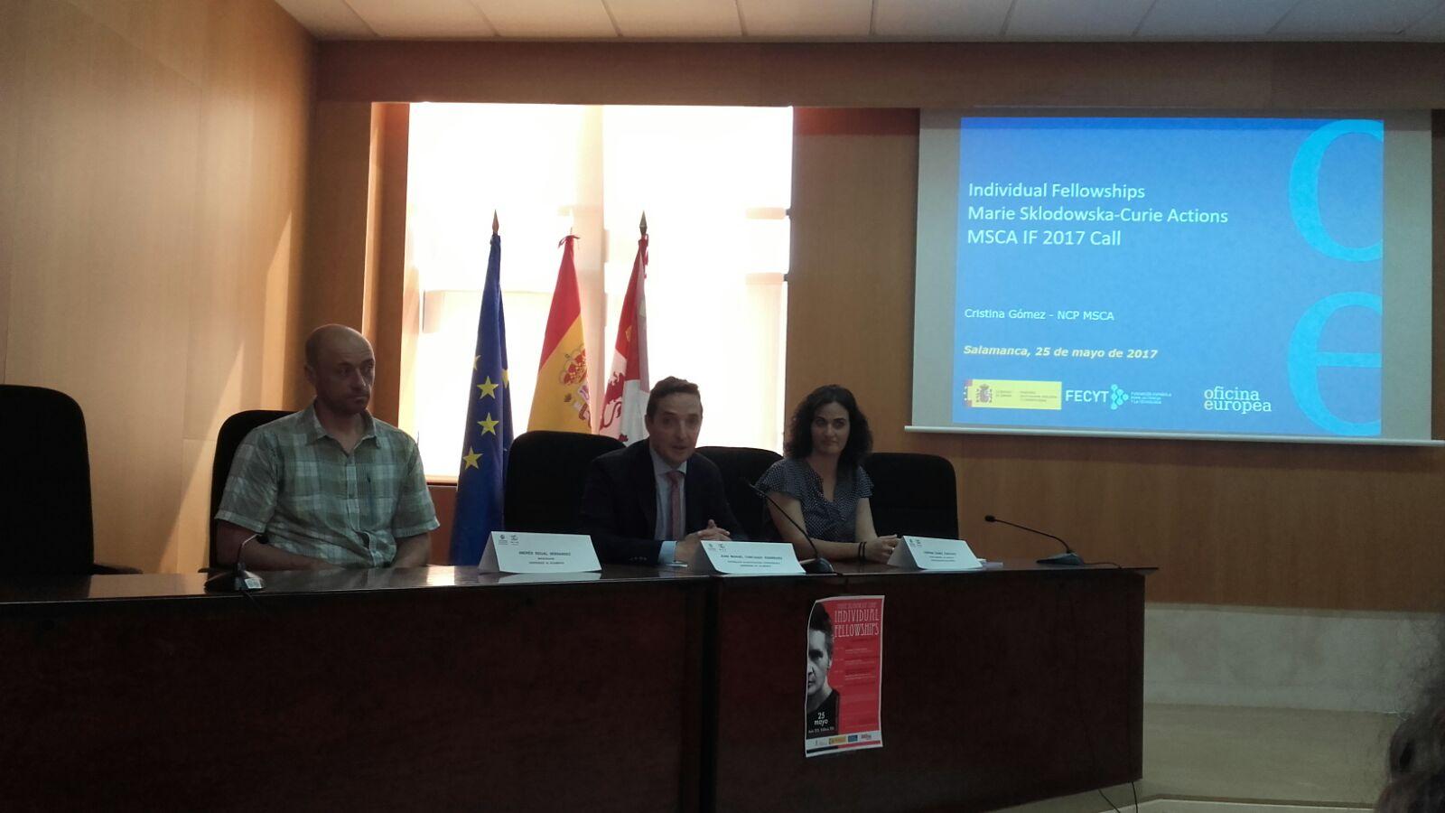 La Oficina de Proyectos Internaciones organiza la jornada informativa sobre las becas individuales del programa Marie Sklodowska Curie