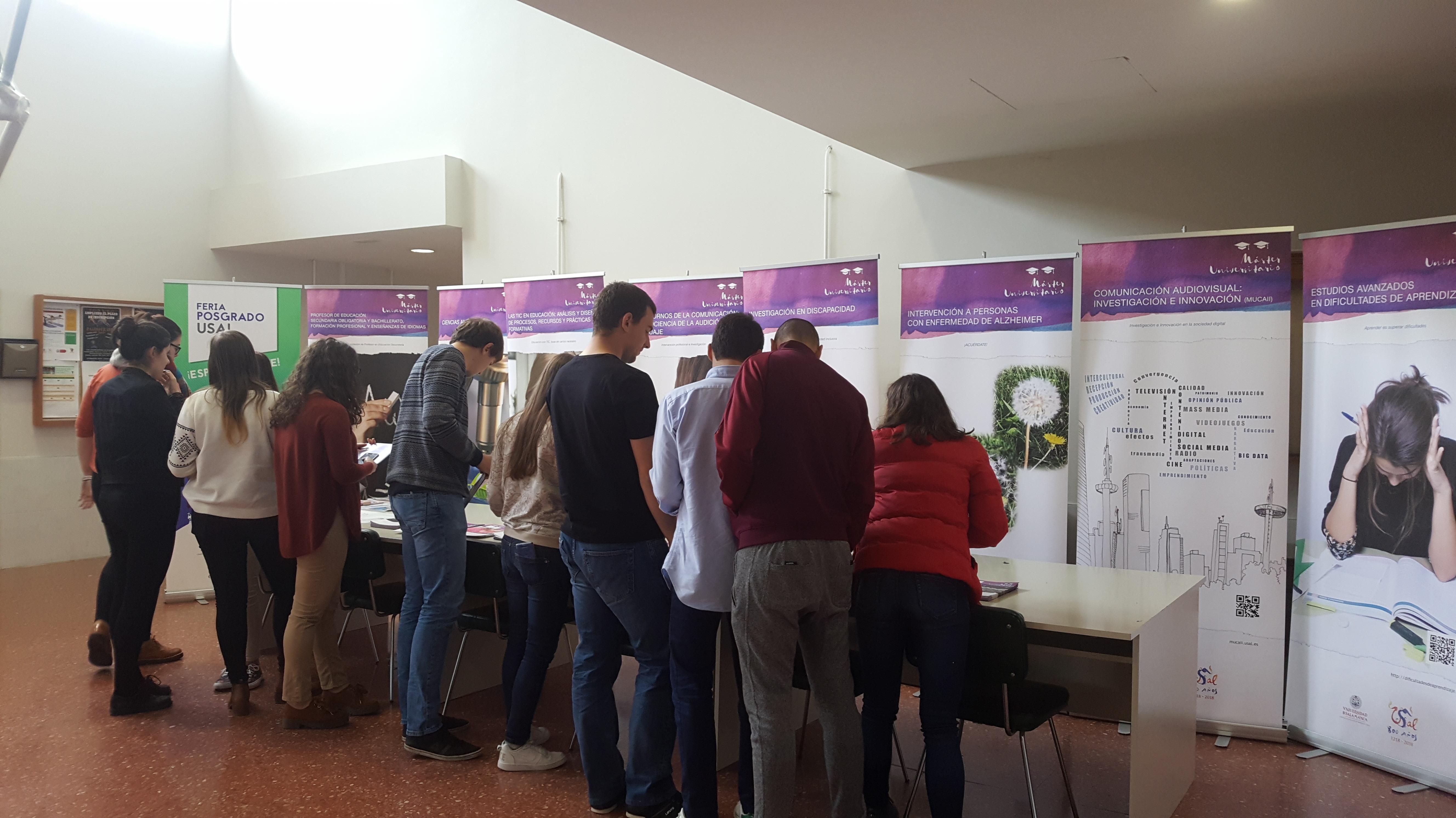 La III Feria de Posgrado de la Universidad de Salamanca acerca su oferta académica de especialización a todo el distrito universitario