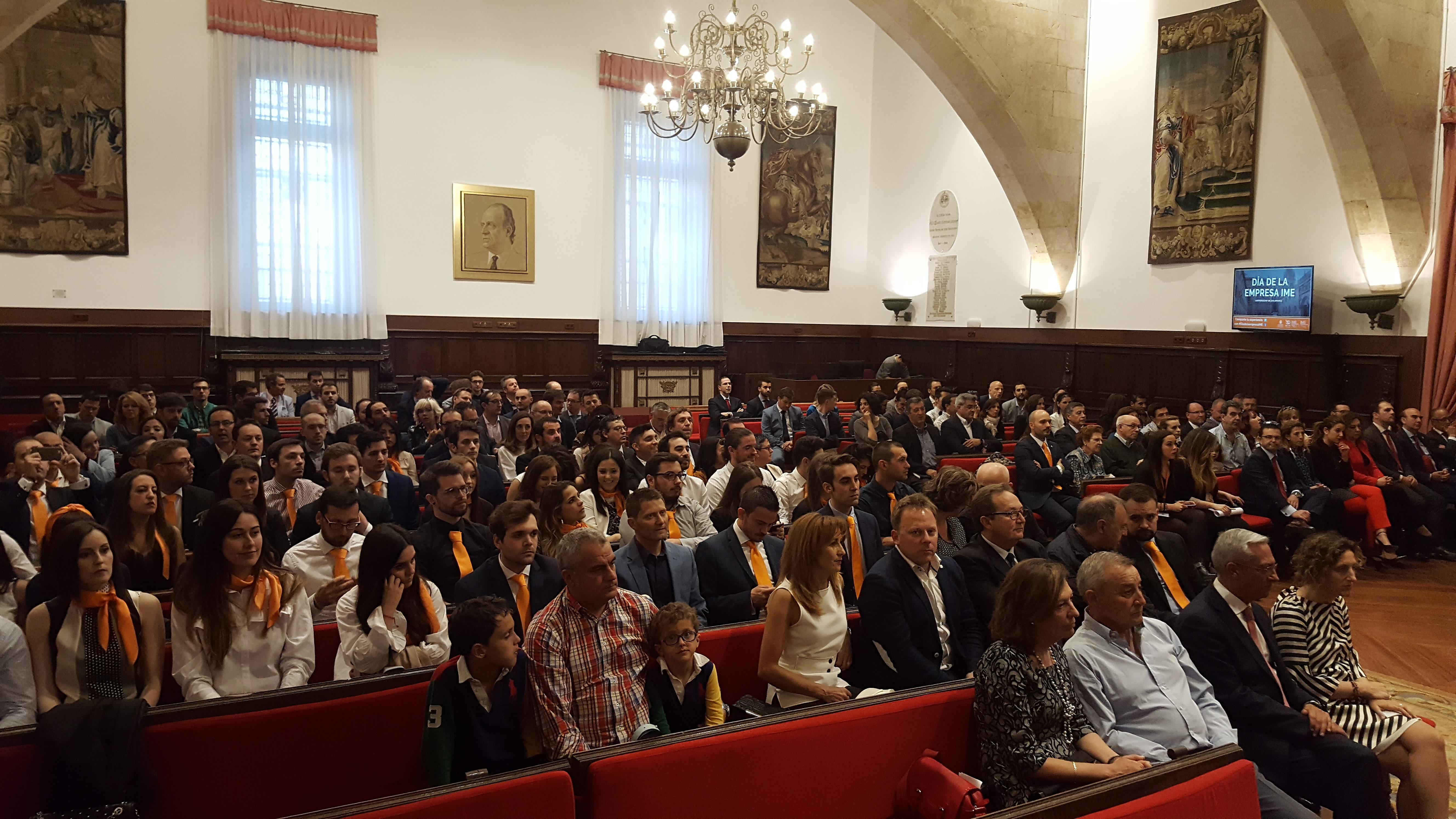 El rector de la Universidad de Salamanca preside en las Escuelas Mayores al acto del 'III Día de la Empresa IME'