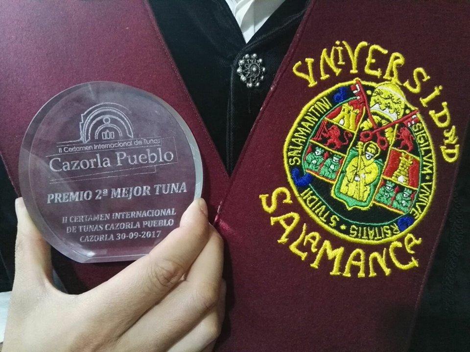 La Tuna Universitaria de Salamanca consigue el segundo puesto en el II Certamen Internacional de Tunas Cazorla Pueblo