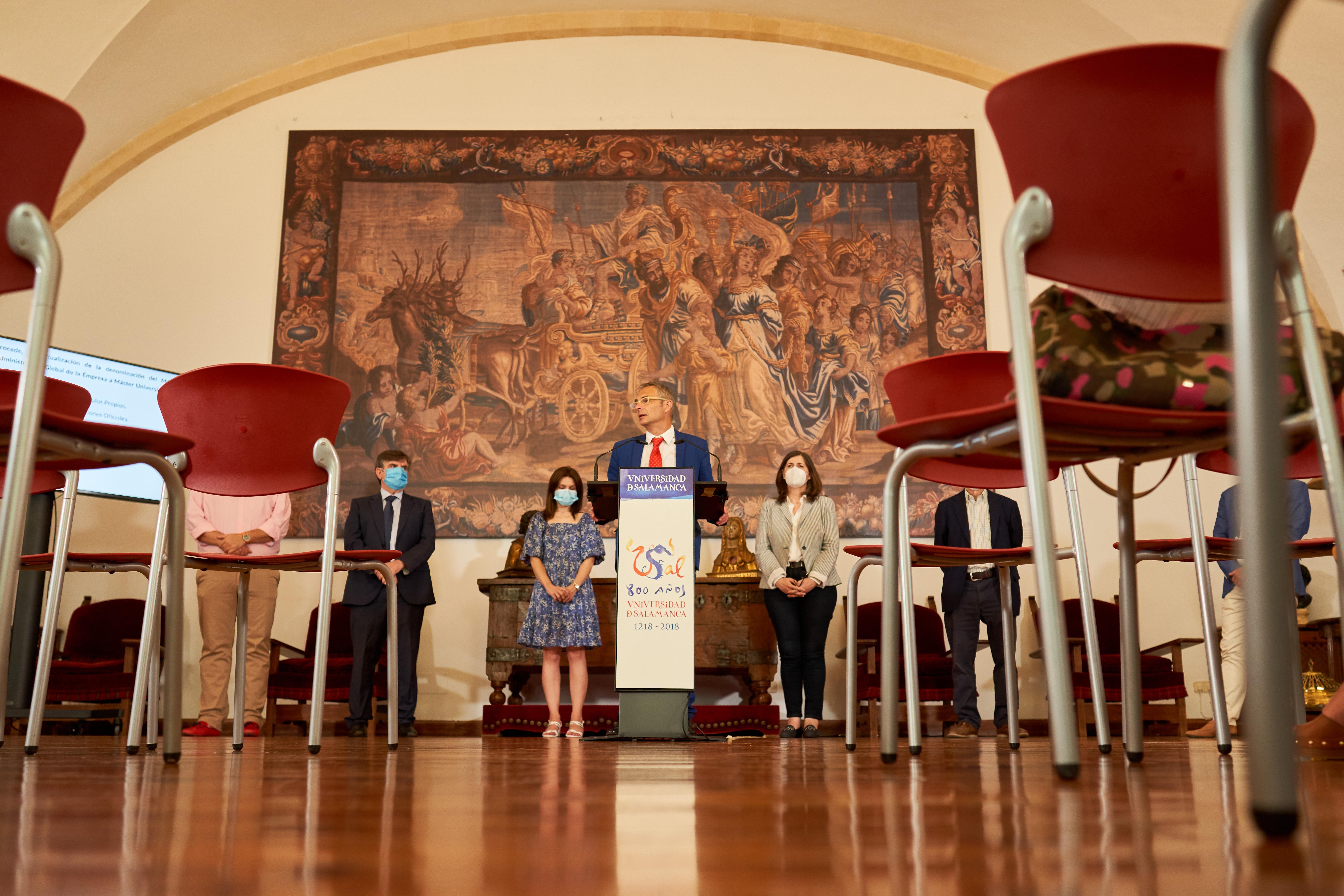 El Consejo de Gobierno de la Universidad de Salamanca aprueba un paquete de ayudas para los estudiantes, el refuerzo de la plantilla docente, la creación de un nuevo campus virtual y el modelo de presencialidad segura para el curso académico 2020-2021