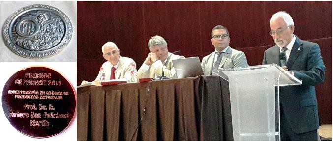 El catedrático Arturo San Feliciano recibe el premio GEPRONAT de la Real Sociedad Española de Química