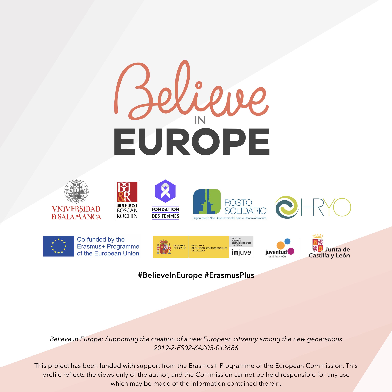 Cartel del juego educativo digital 'Believe in Europe'