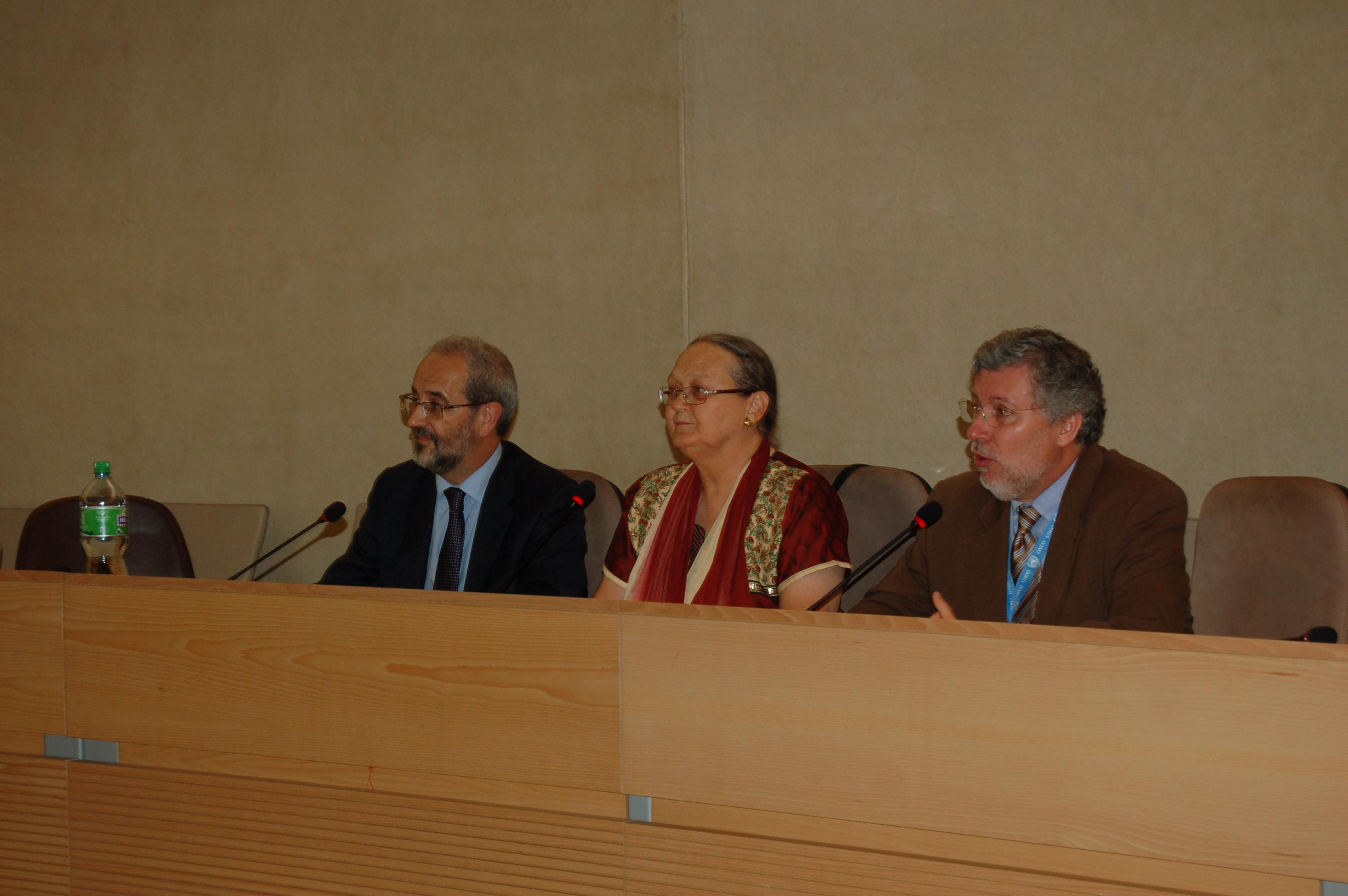 Defensa en Ginebra de la candidatura de la Fundación Vicente Ferrer al Premio Nobel de la Paz 2011