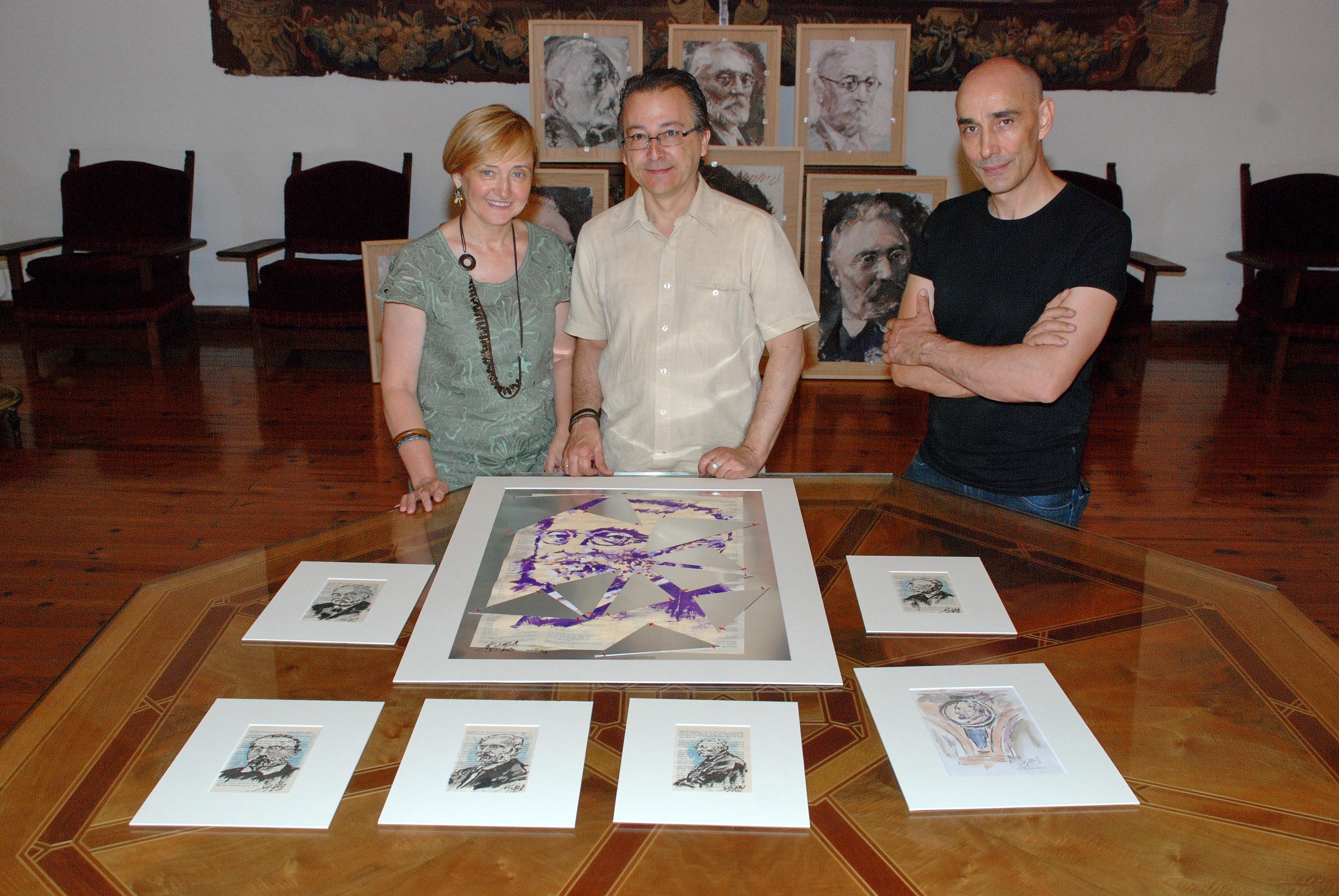 La Casa Museo Unamuno recibe una serie de trabajos artísticos inspirados en la figura de Miguel de Unamuno