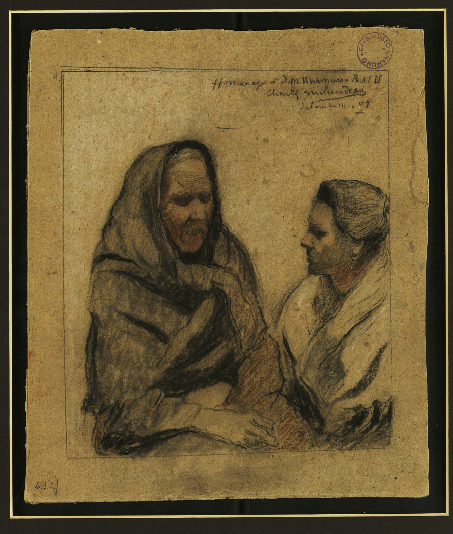 La Casa-Museo Unamuno presta dos cartas y un dibujo para la exposición retrospectiva del pintor francés Charles Milcendeau