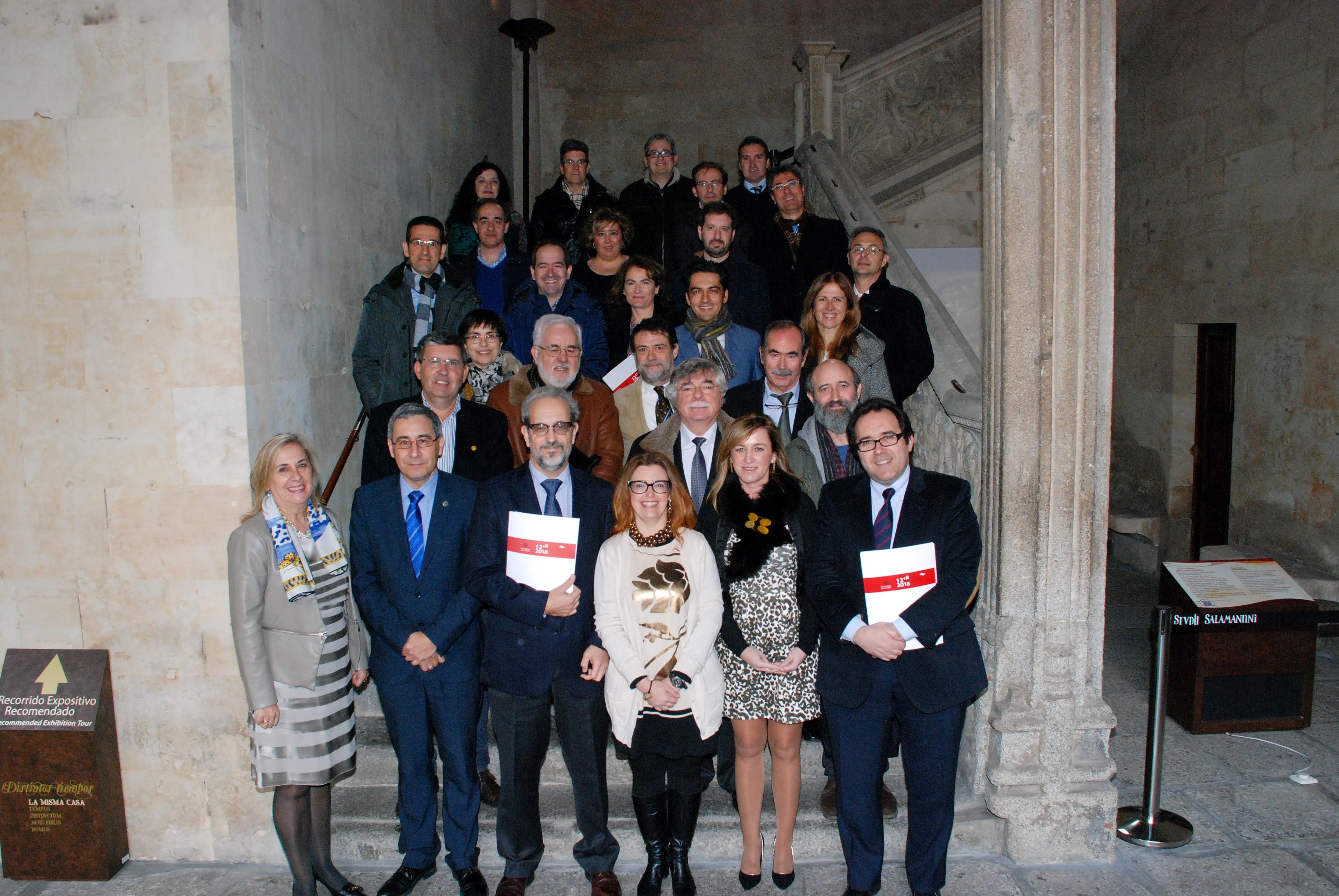 La Comisión Asesora del VIII Centenario de la Universidad de Salamanca analiza la aplicación de los incentivos fiscales a empresas y estudia el programa 'Horizonte 2018+'