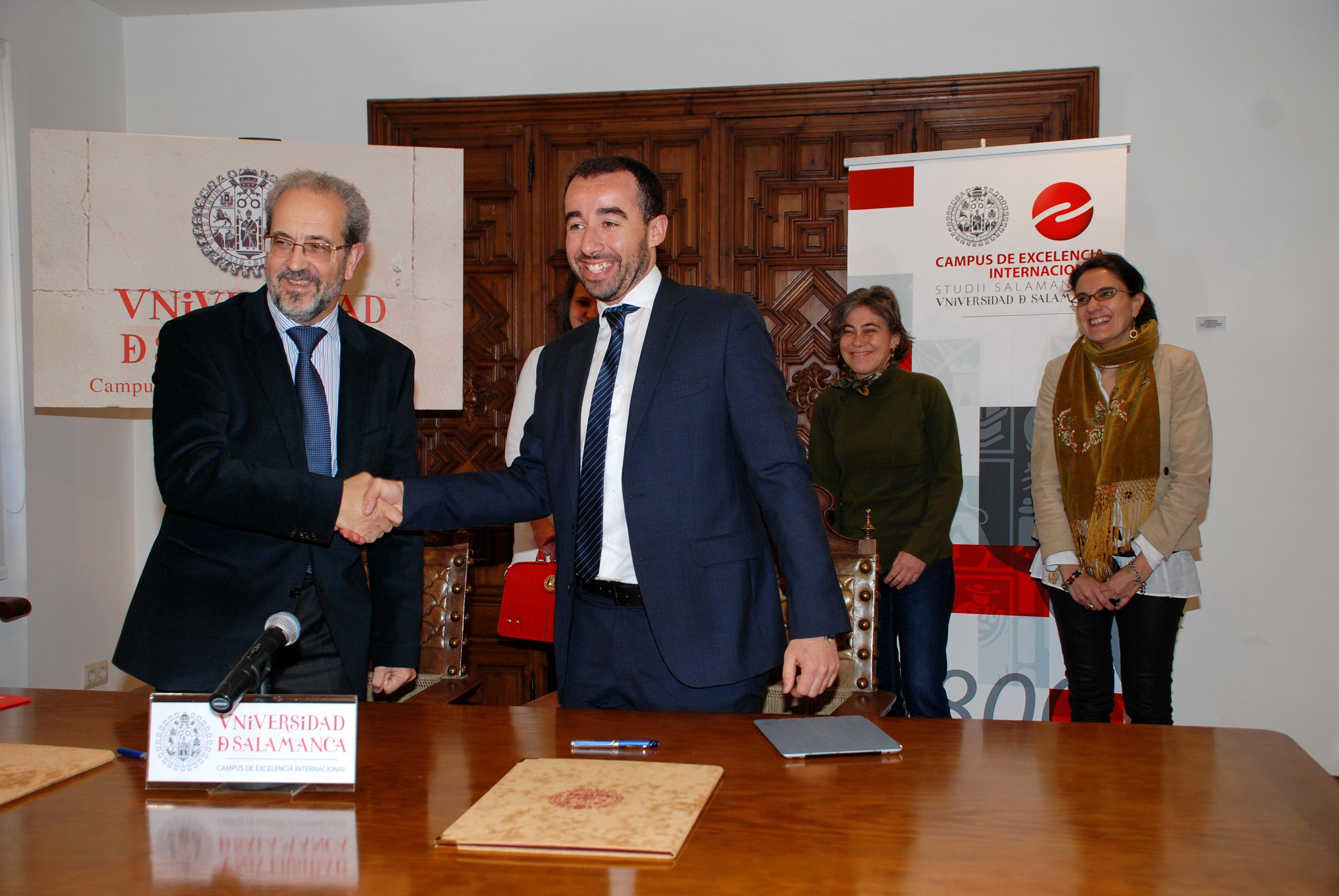 La Universidad de Salamanca y la Asociación de Jóvenes Empresarios de Salamanca formarán a los estudiantes para el autoempleo