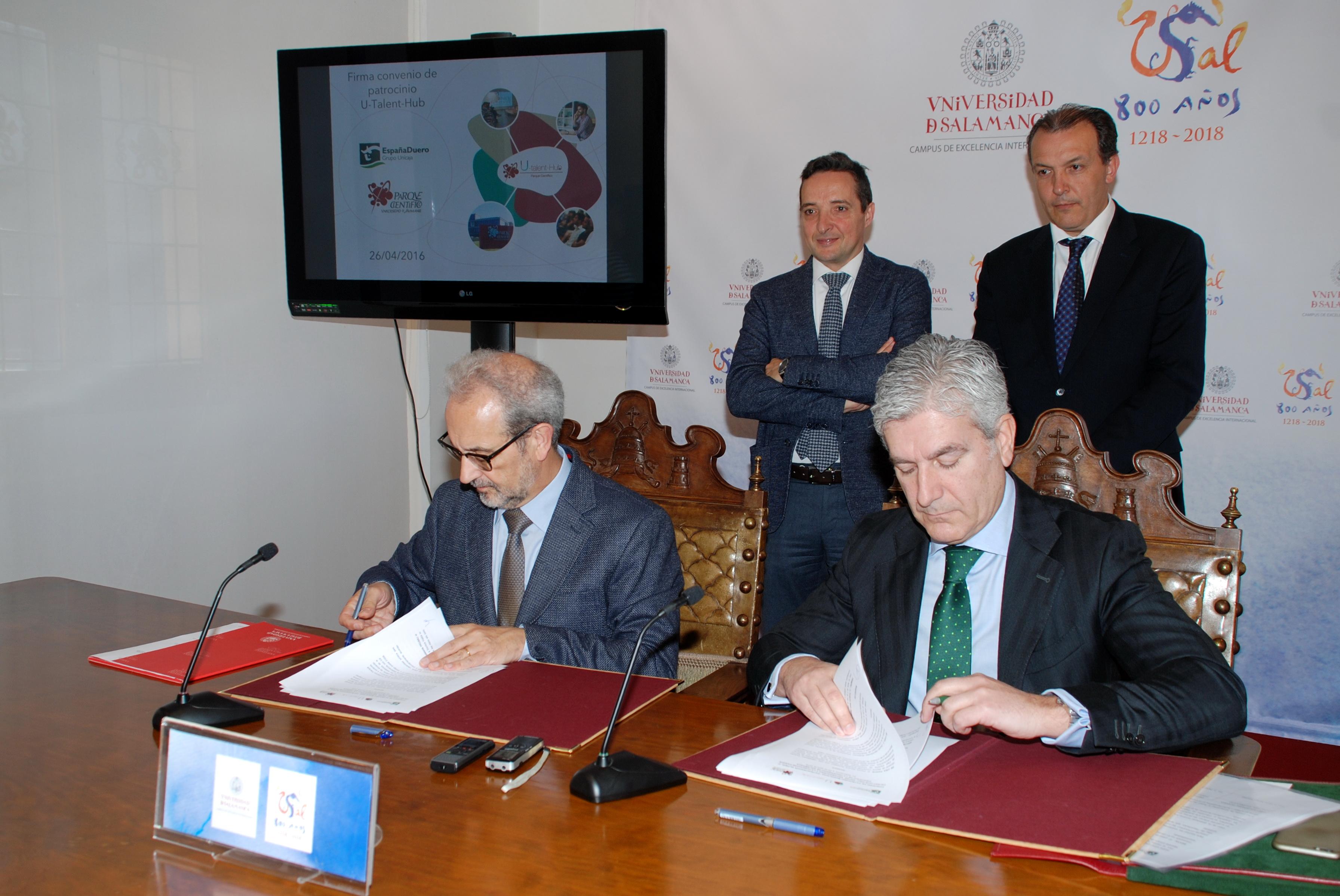 El Parque Científico de la Universidad de Salamanca y EspañaDuero suscriben un convenio para potenciar la innovación empresarial