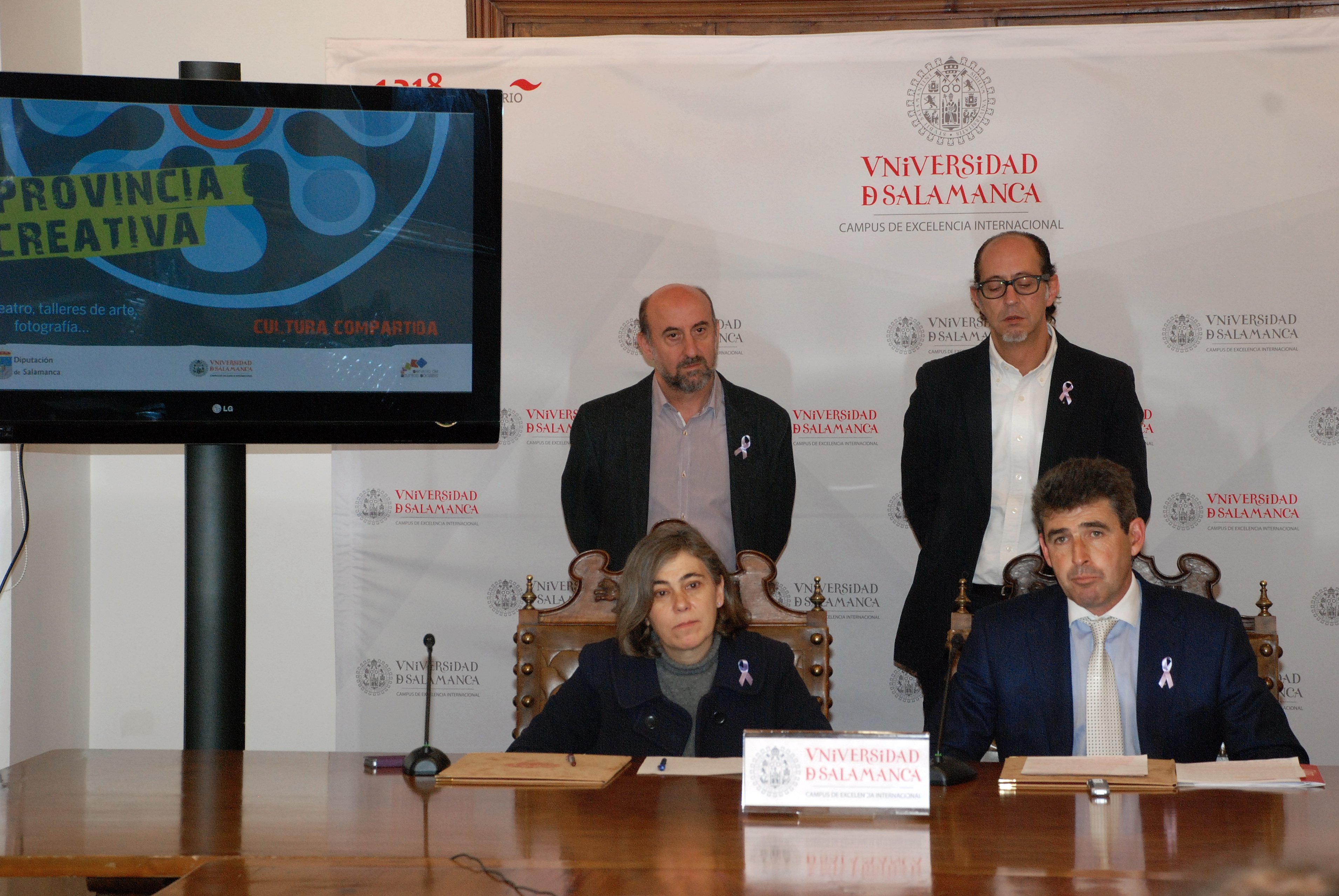 La Universidad y la Diputación renuevan su colaboración para la puesta en marcha del programa de voluntariado 'Provincia Creativa'