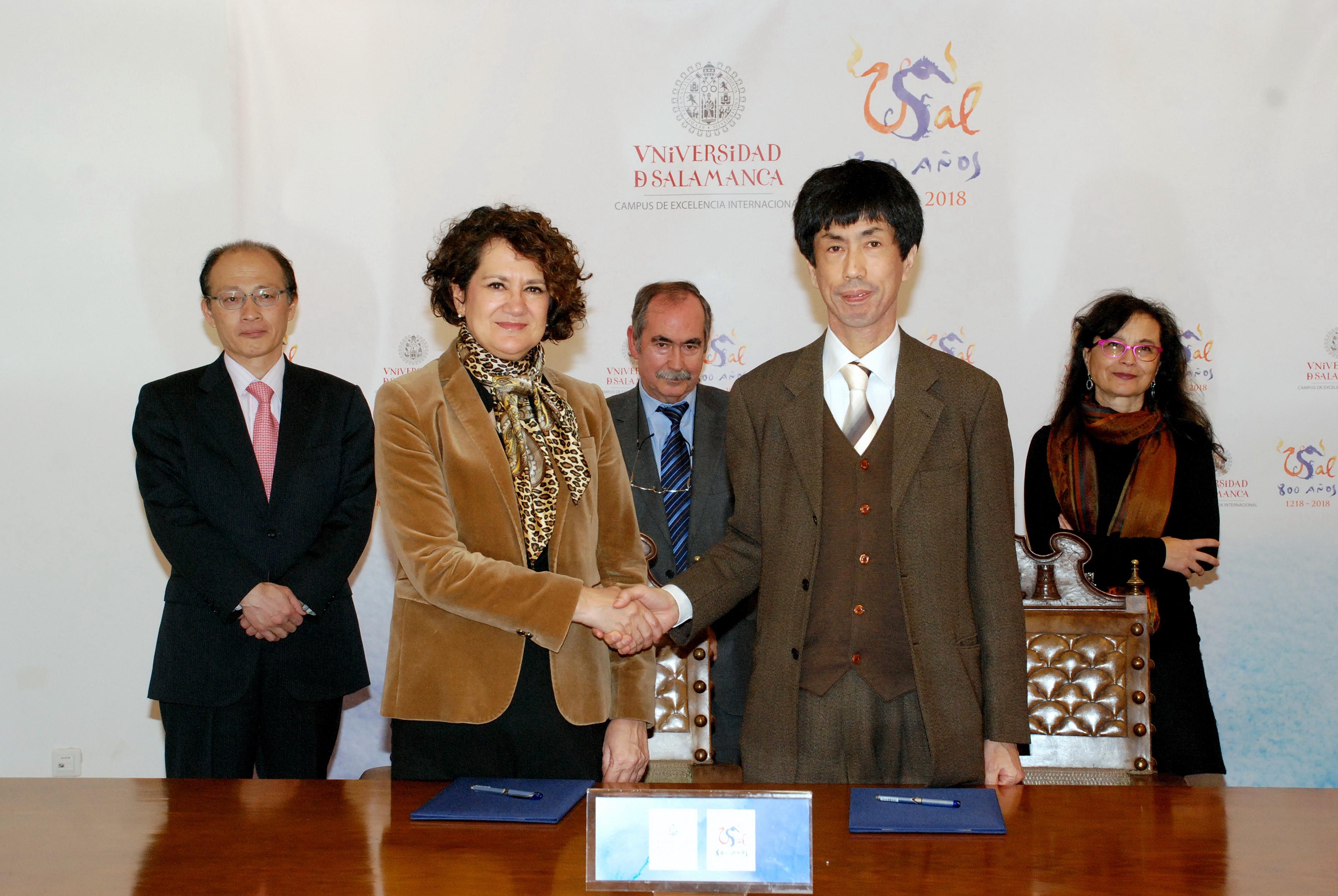 La Universidad de Salamanca y la Universidad de Estudios Extranjeros de Tokio estimulan la movilidad entre ambas instituciones