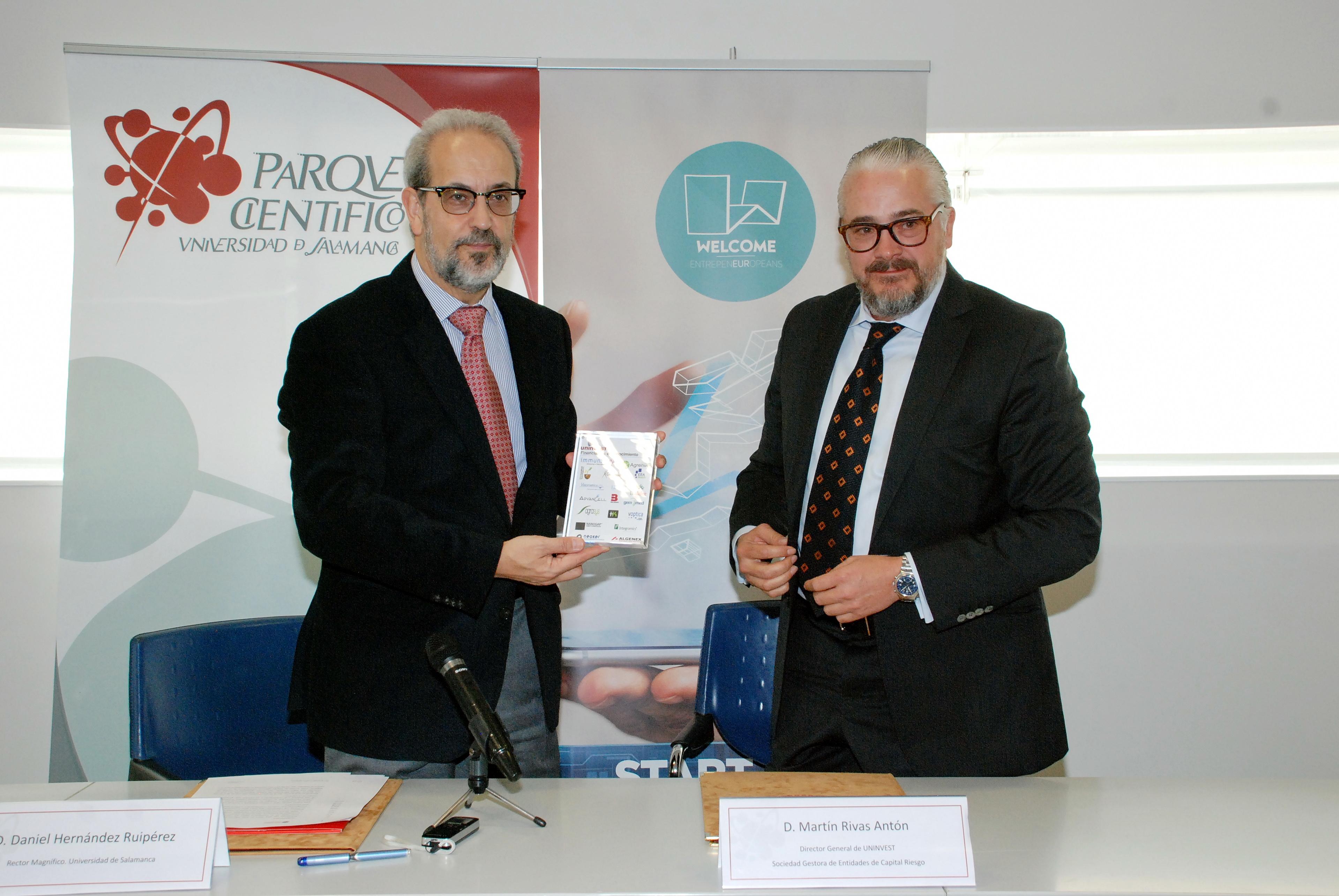 La Universidad de Salamanca y la empresa Uninvest suscriben un convenio para explorar inversiones en empresas tecnológicas