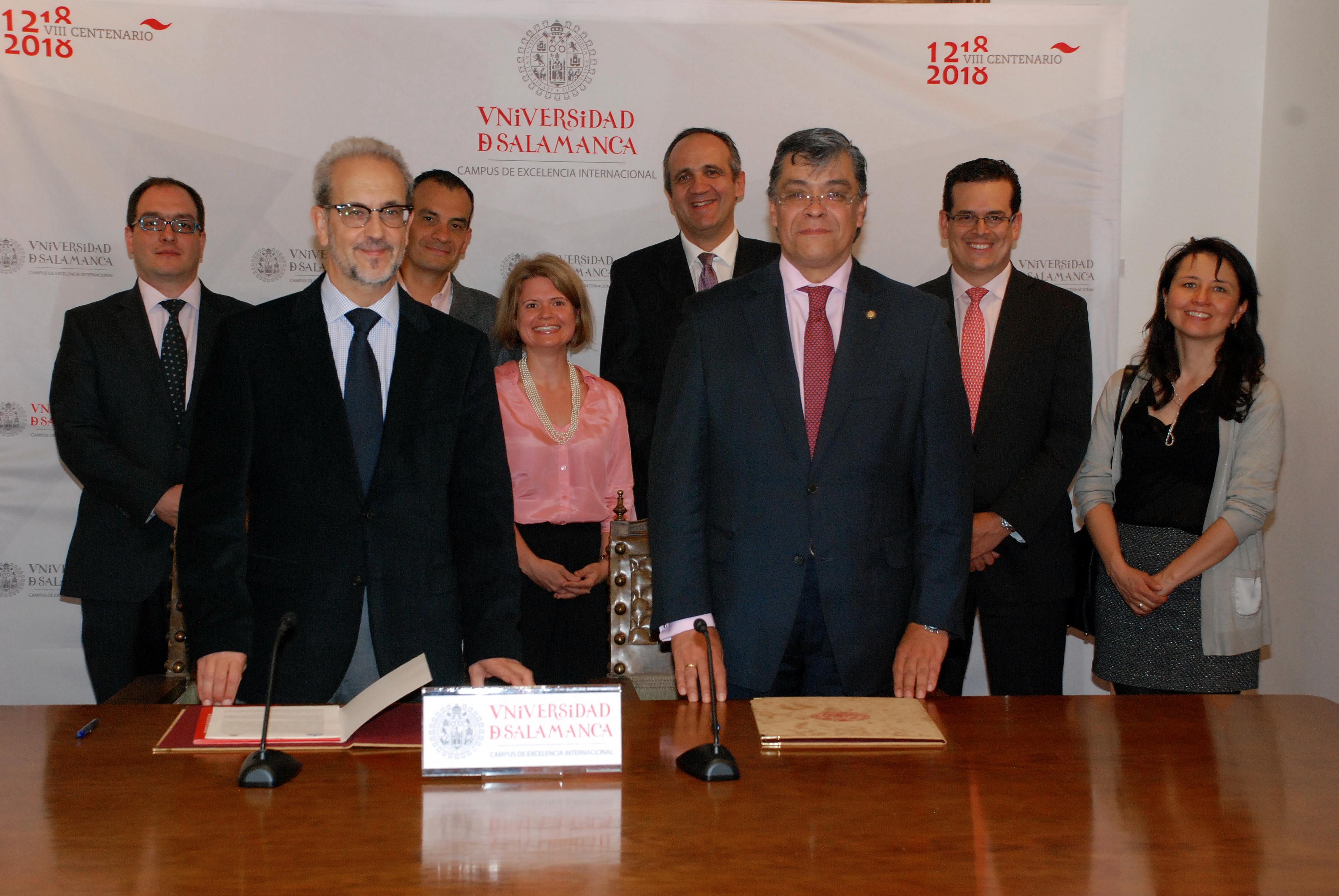 La Universidad de Salamanca y la Pontificia Universidad Javeriana de Bogotá suscriben un convenio de colaboración