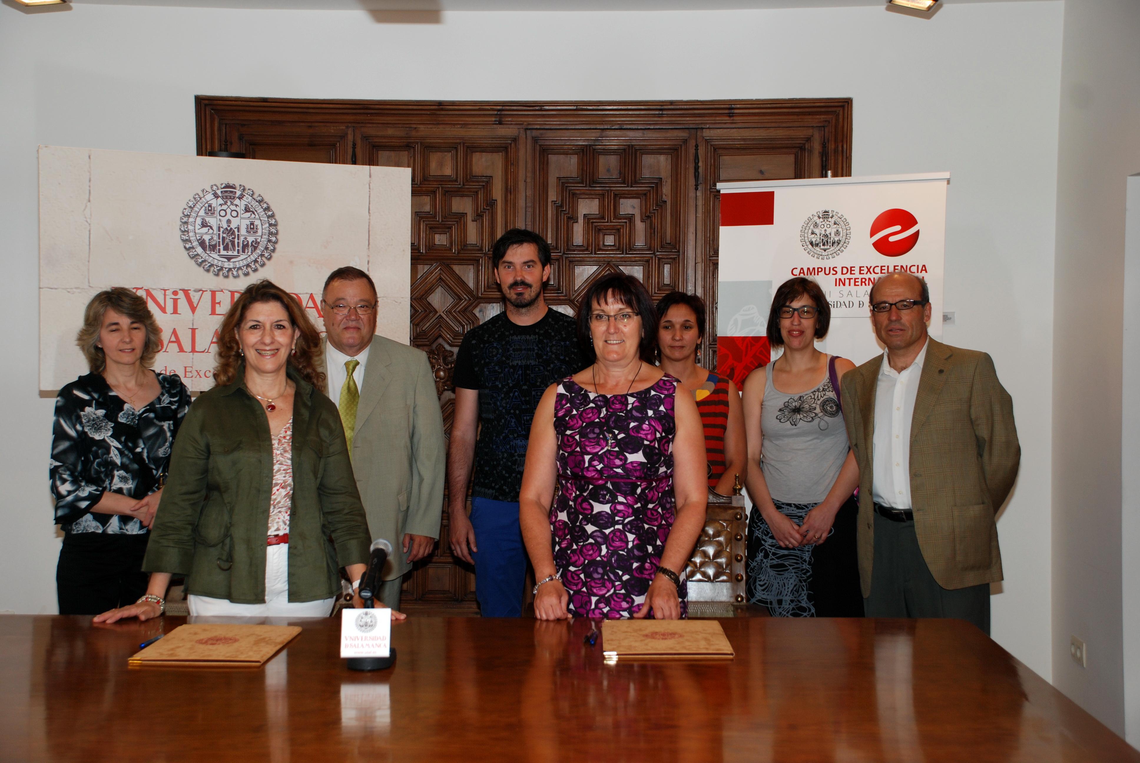 La Universidad de Salamanca suscribe un convenio de colaboración con la Asociación Vojta Española y la Sociedad Vojta Internacional