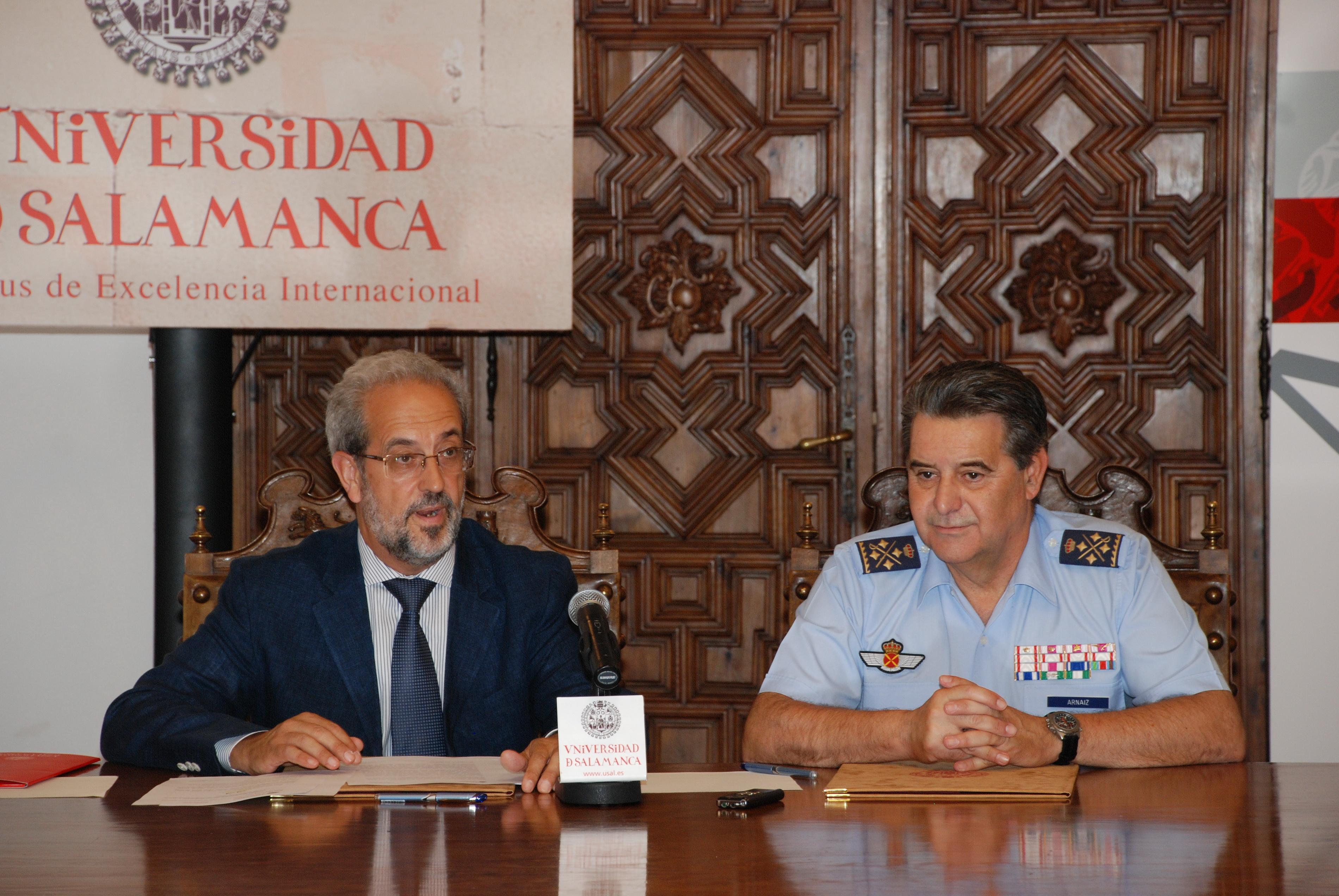 La Universidad de Salamanca y el Ministerio de Defensa impulsarán la investigación en los campos de la aeronáutica y la astronáutica