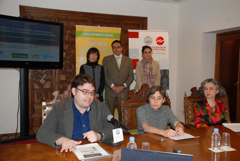 La Cátedra de Inserción Profesional Caja Rural-Universidad de Salamanca elabora un estudio sobre el mercado laboral