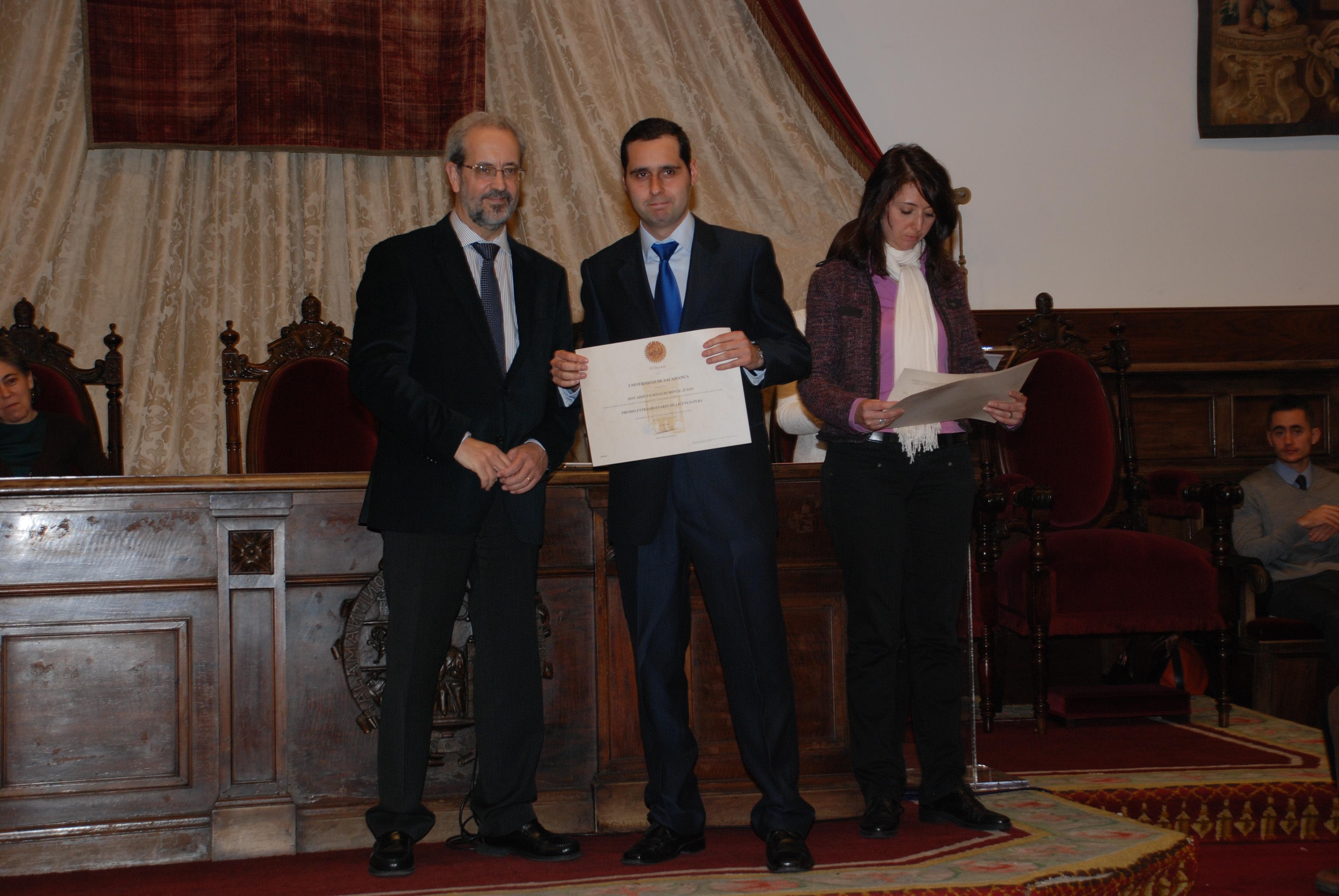 Un centenar de estudiantes recibe los premios extraordinarios de Grado, Grado de Salamanca, Máster y Doctorado de la Universidad de Salamanca