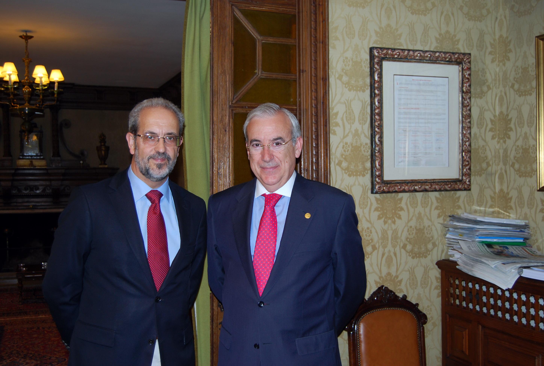 El rector recibe al presidente del Consejo de Cuentas de Castilla y León