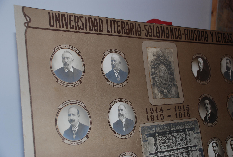 La Casa Museo Unamuno recibe una orla universitaria de principios del siglo XX en la que figura Miguel de Unamuno