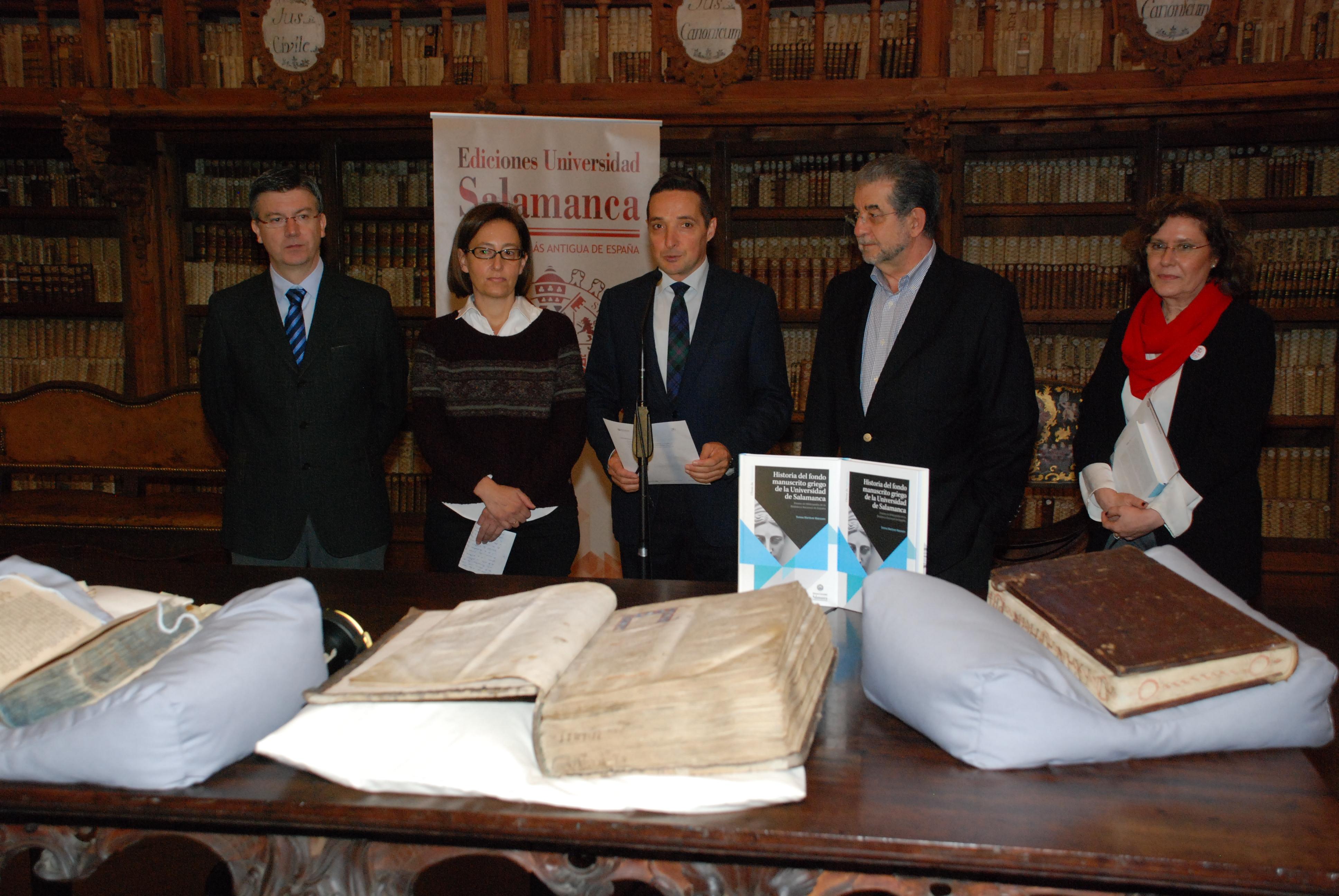 Ediciones Universidad da a conocer los manuscritos griegos de la Biblioteca Histórica, el tercer fondo más importante de España