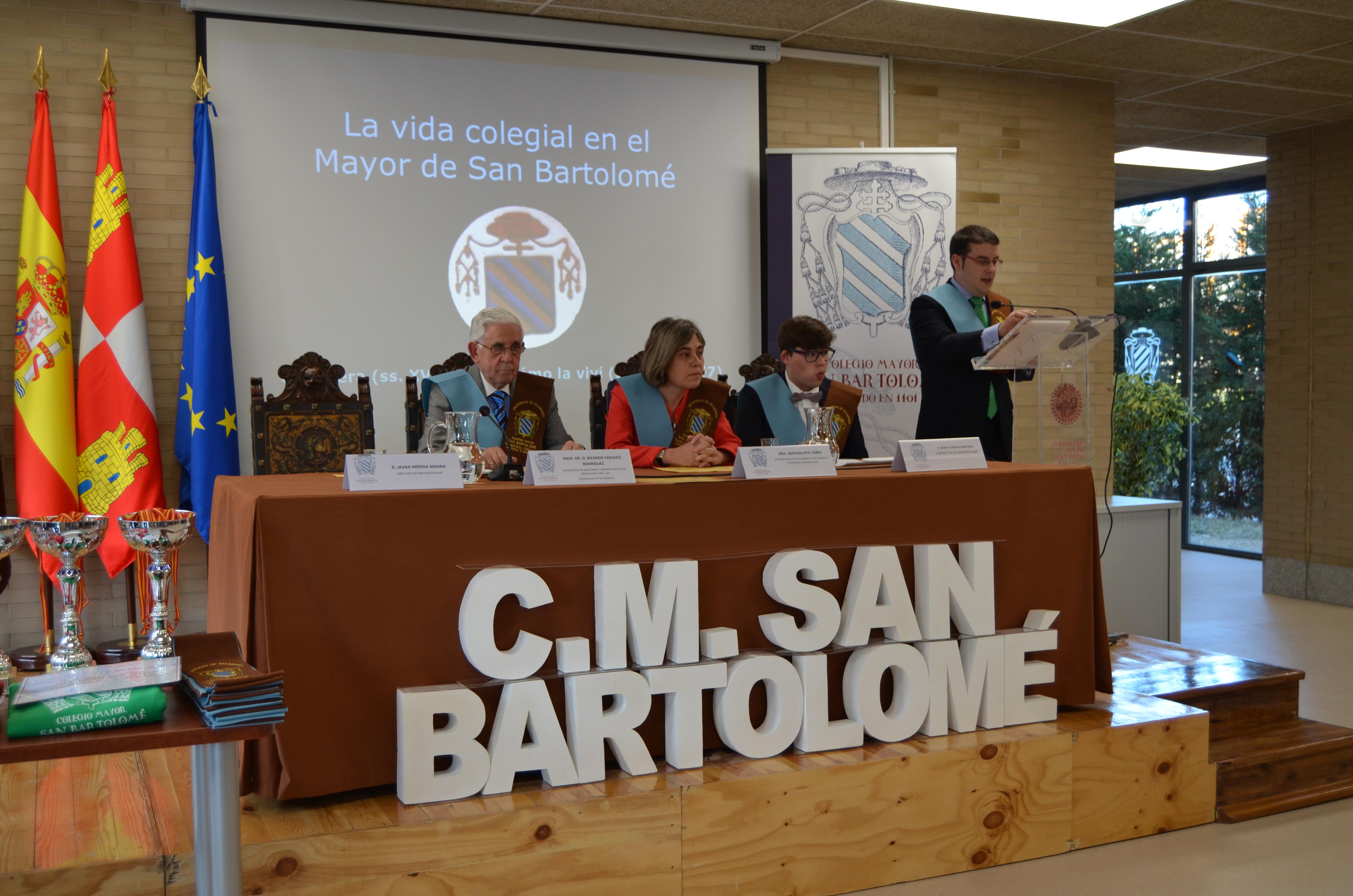 El Colegio Mayor San Bartolomé entrega su Insignia de Oro al exdecano de Medicina y antiguo subdirector del colegio Ricardo Vázquez