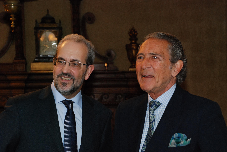 El rector y Antonio Gala