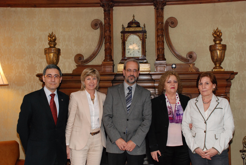 Reunión del rector con la secretaria general del IMSERSO