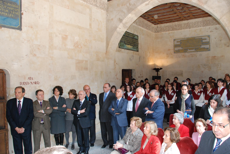 Homenaje al expresidente Adolfo Suárez en la Universidad de Salamanca