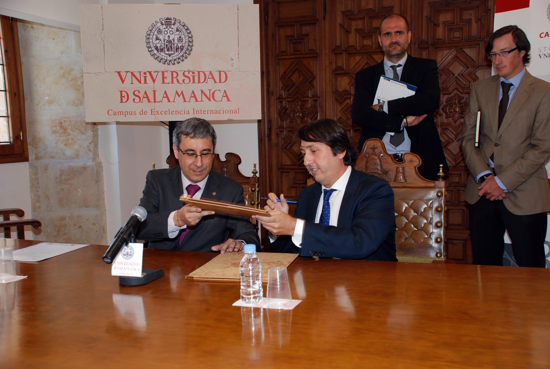La Universidad de Salamanca y ALSA colaborarán en la aplicación de los resultados en investigación e innovación en el sector empresarial