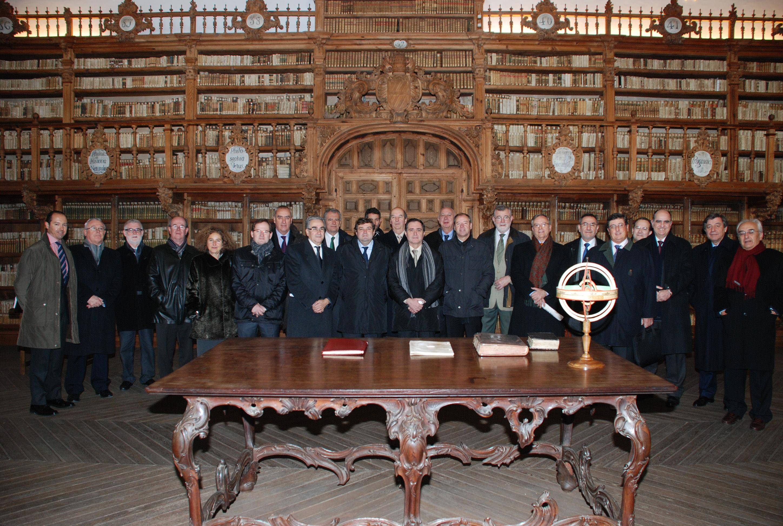 Pleno del Consejo de Universidades en la Universidad de Salamanca presidido ministro de Educación, José Ignacio Wert.