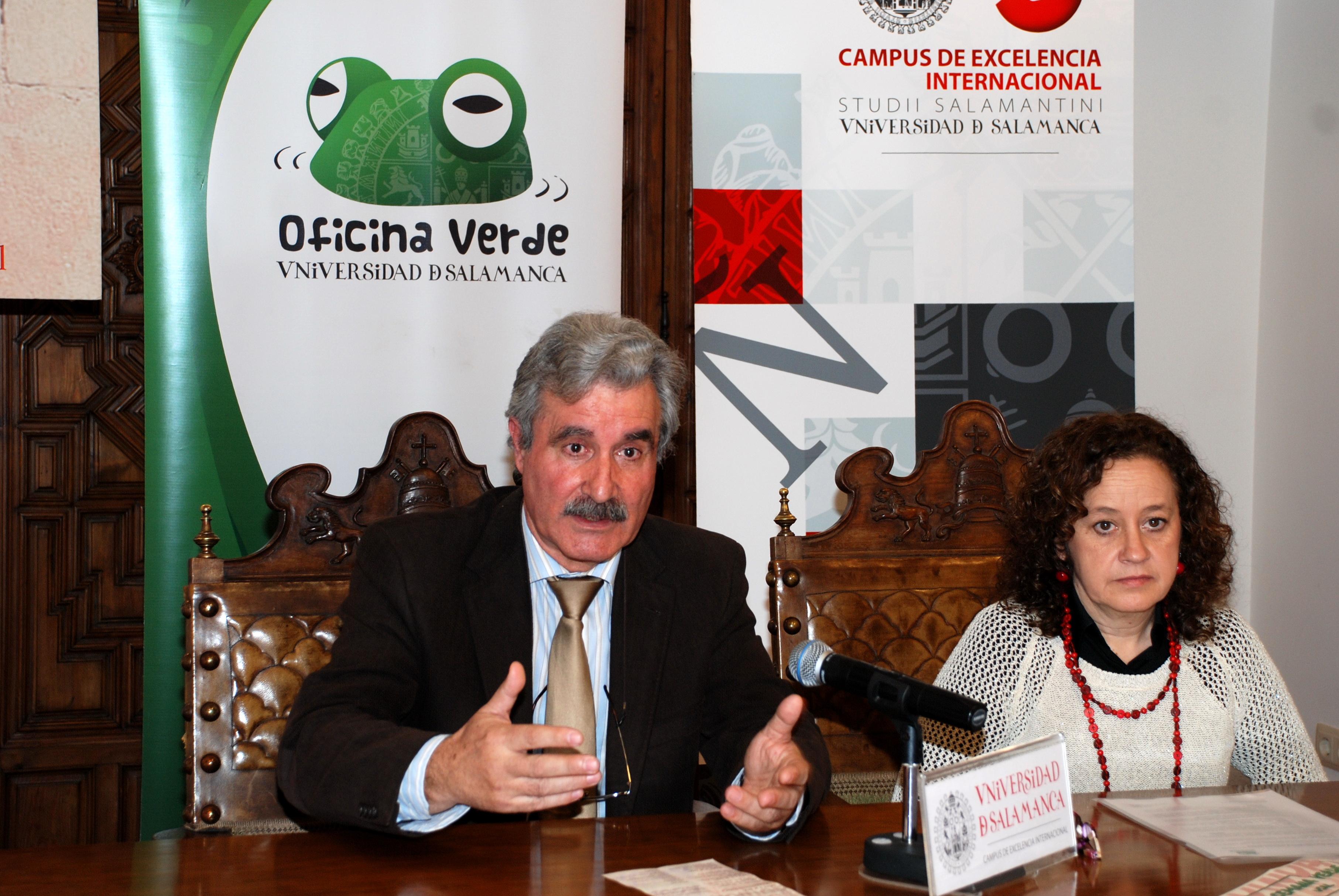 La vicerrectora de Innovación e Infraestructuras, Pastora Vega, presenta la programación de la VI Semana Verde de la Universidad de Salamanca