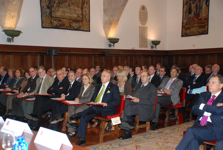 Pleno del Consejo de Universidades en la Universidad de Salamanca presidido ministro de Educación, José Ignacio Wert